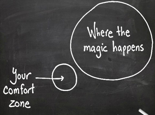 Where the magic happens - outside your comfort zone
