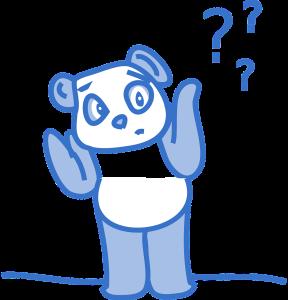 Confused panda
