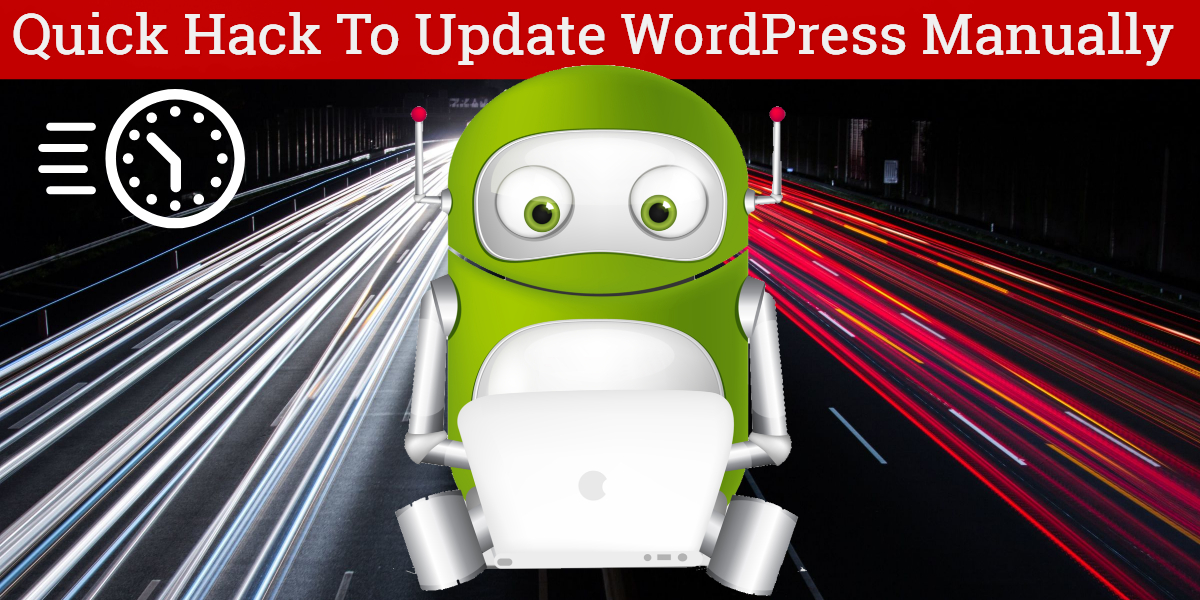 quick hack to update wordpress manually
